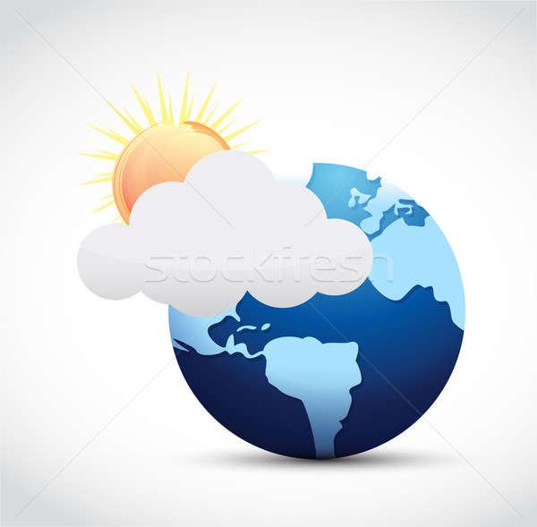 Globe and weather illustration design Stock photo © alexmillos