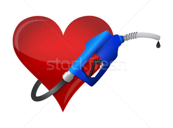Heart with a gas pump nozzle  Stock photo © alexmillos