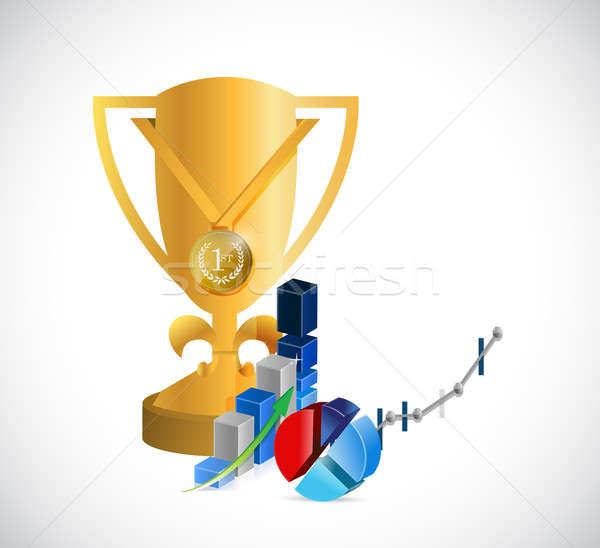 Trofeo líder negocios ilustración diseno Foto stock © alexmillos