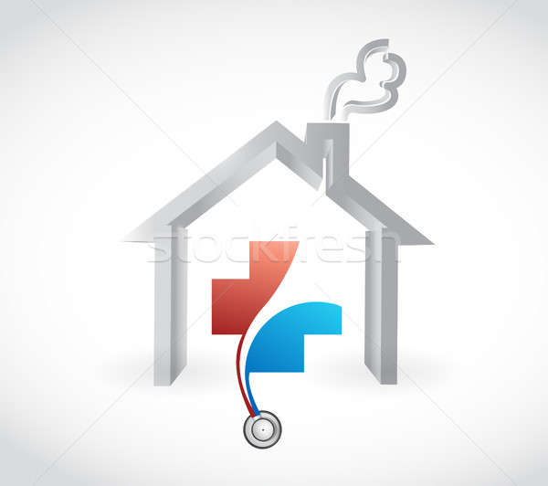 family health care coverage concept illustration Stock photo © alexmillos