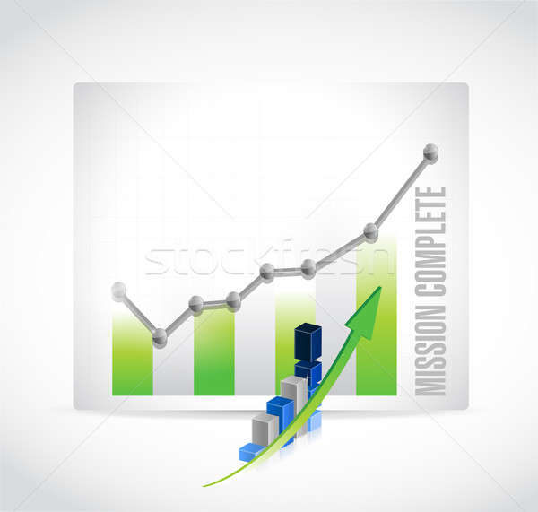 mission complete business graph sign concept Stock photo © alexmillos