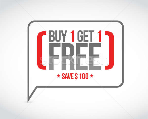 buy one get one free sale message concept Stock photo © alexmillos