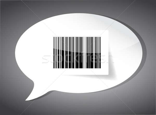 Barcode label inside a speech bubble Stock photo © alexmillos