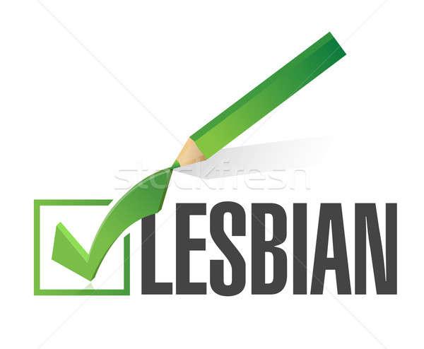 Kiválasztott leszbikus csekk osztályzat illusztráció terv Stock fotó © alexmillos