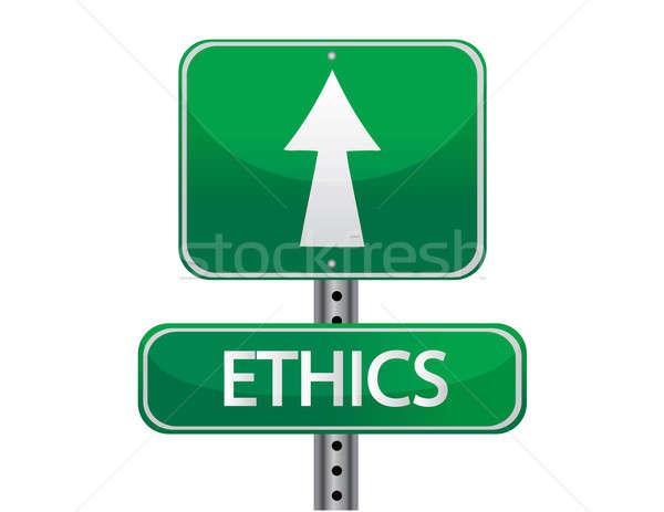 ethics sign Stock photo © alexmillos