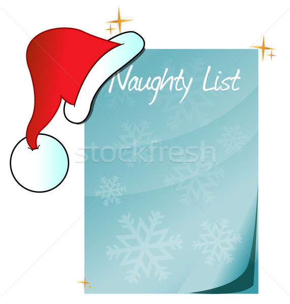 Santa's Naughty List Stock photo © alexmillos