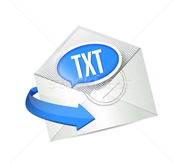 email txt message illustration design over white Stock photo © alexmillos