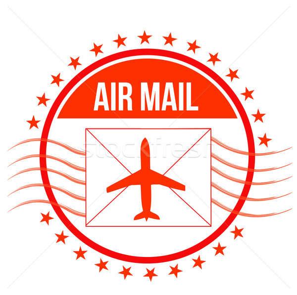 Hava posta damga örnek dizayn Yıldız Stok fotoğraf © alexmillos