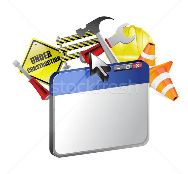Website under construction illustration design  Stock photo © alexmillos