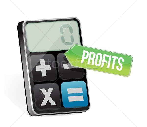 Profits and modern calculator Stock photo © alexmillos