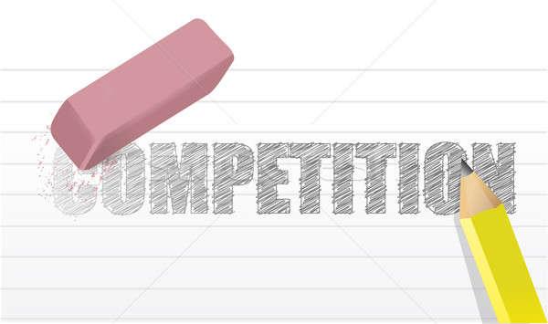 Erase competition concept illustration design Stock photo © alexmillos
