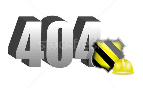 404 erro construção ilustração projeto branco Foto stock © alexmillos