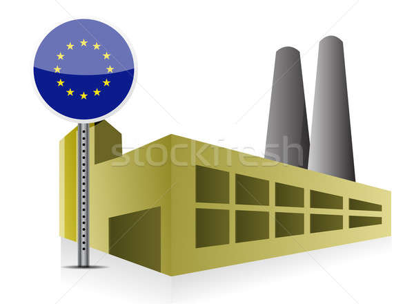 European Industrial building factory and power Stock photo © alexmillos