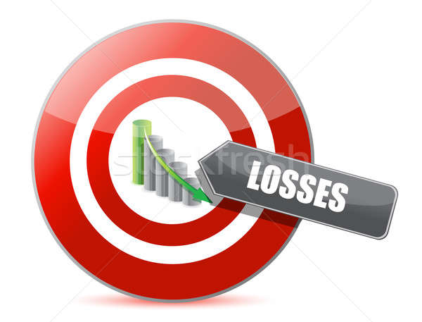 Problem - targeting losses target chart concept  Stock photo © alexmillos