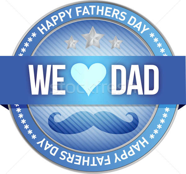 Happy father s day rubber stamp seal illustration Stock photo © alexmillos