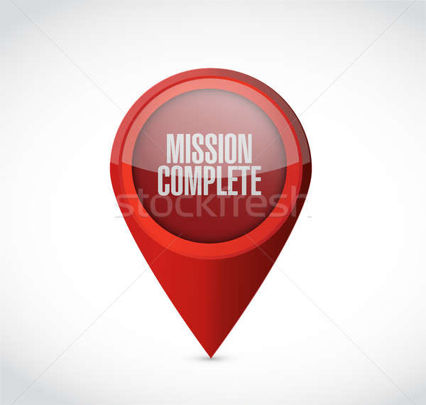 Mission signe illustration design graphique Photo stock © alexmillos