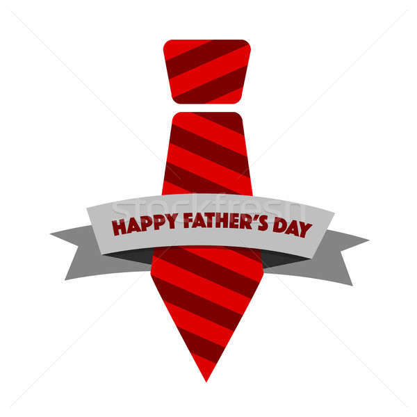 Happy Fathers day tie ribbon illustration design Stock photo © alexmillos