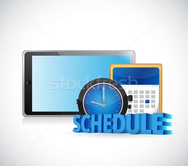スケジュール 時間 カレンダー タブレット 実例 デザイン ストックフォト © alexmillos