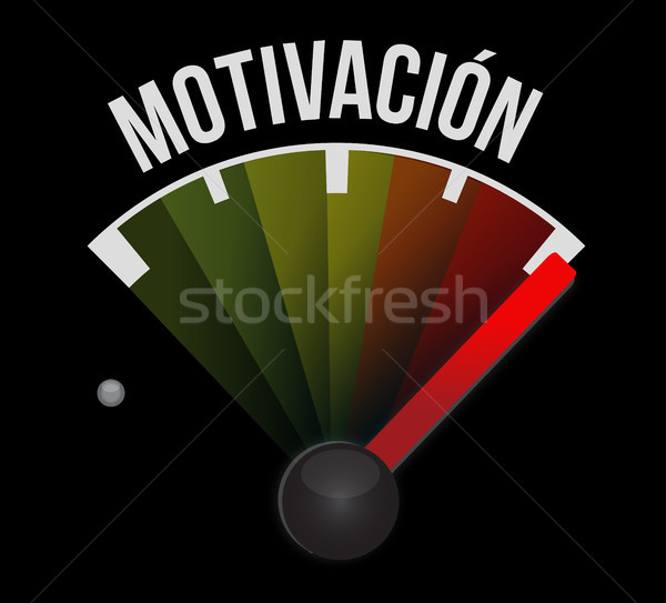 Motivation meter sign in Spanish concept Stock photo © alexmillos