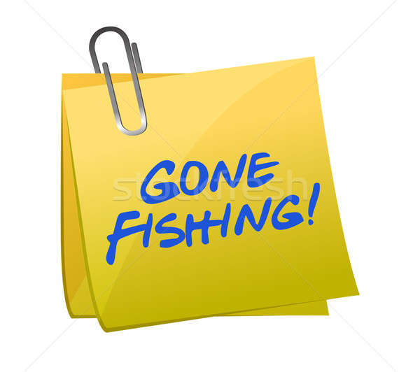 Pêche illustration design nouvelles signe club Photo stock © alexmillos