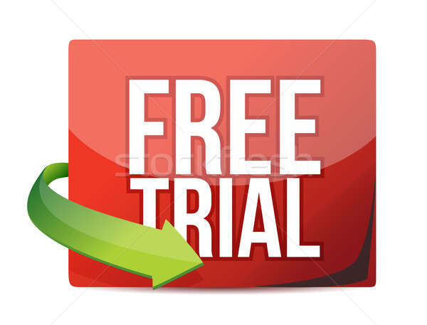 free trial arrow label Stock photo © alexmillos