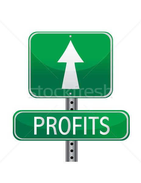 Profits concept street sign  Stock photo © alexmillos