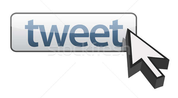 tweet button illustration design concept Stock photo © alexmillos