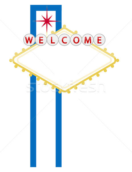 Casino or city welcome sign isolated over a white background Stock photo © alexmillos