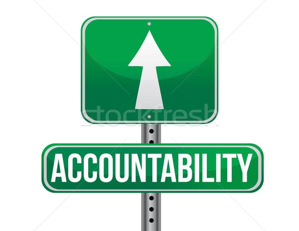 accountability road sign illustration design over a white backgr Stock photo © alexmillos