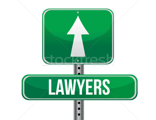 lawyers road sign illustration design over a white background Stock photo © alexmillos