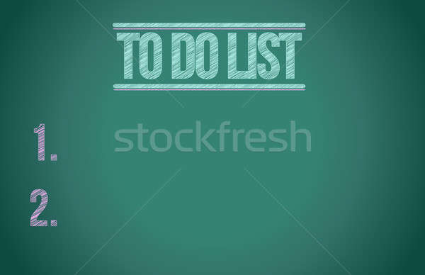 Stock photo: to do list chalkboard illustration design graphic