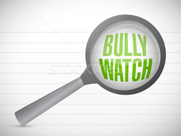 bully watch sign illustration design over a notepad paper Stock photo © alexmillos