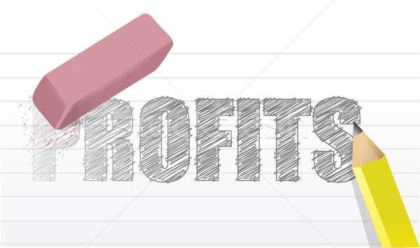no profits questions concept illustration design over a white ba Stock photo © alexmillos
