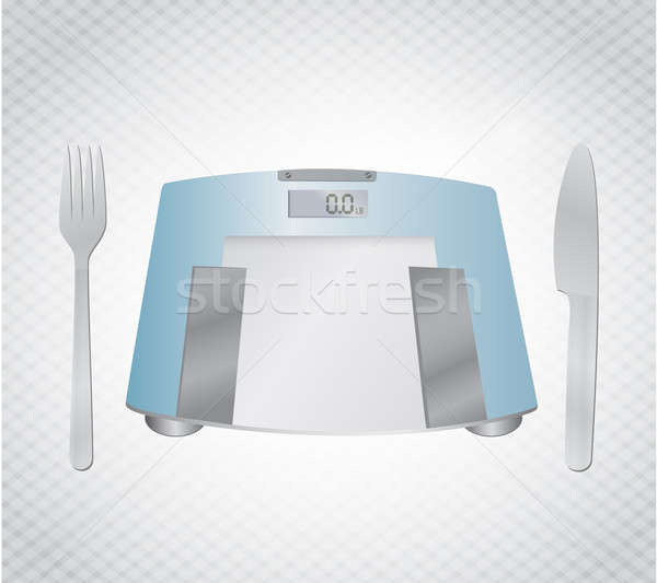 manage your diet, weight concept illustration design over a text Stock photo © alexmillos