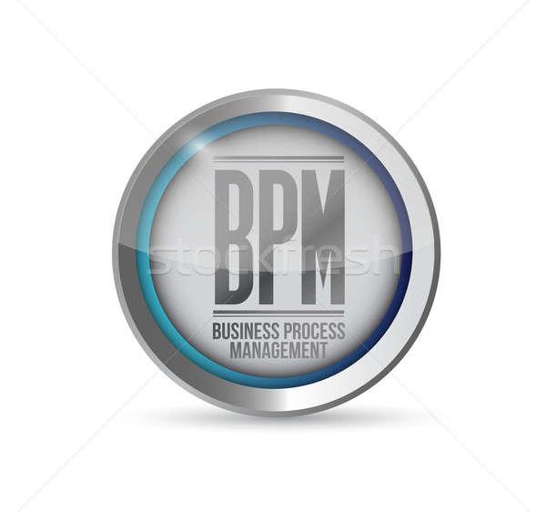 Bpm iş süreç yönetim bilgi veri Stok fotoğraf © alexmillos