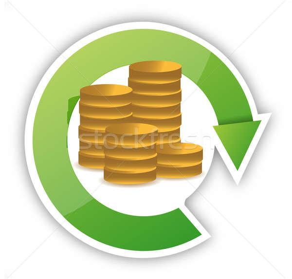 お金 サイクル 実例 デザイン 白 グループ ストックフォト © alexmillos