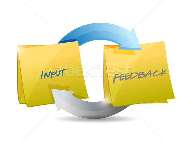 input and feedback cycle illustration design over white Stock photo © alexmillos