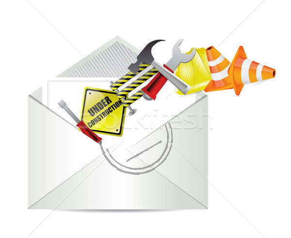 Under construction notice email envelope  Stock photo © alexmillos