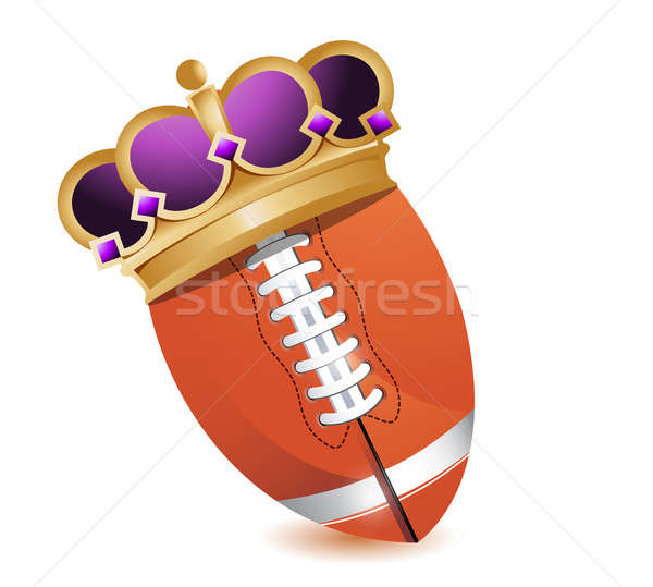 Football ball with a crown  Stock photo © alexmillos