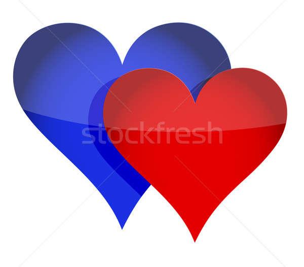 Couple heart concept  Stock photo © alexmillos