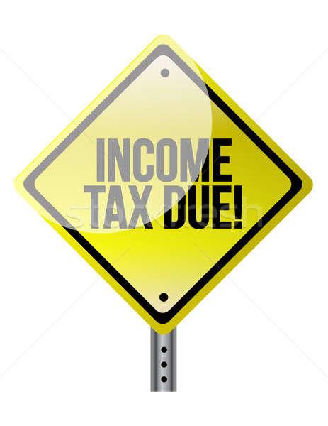 Jövedelem adó figyelmeztető jel net stop jogi Stock fotó © alexmillos