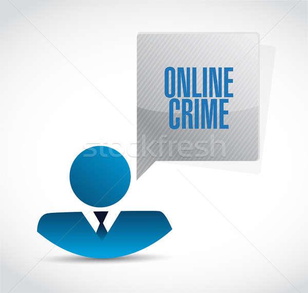 online crime avatar sign concept Stock photo © alexmillos