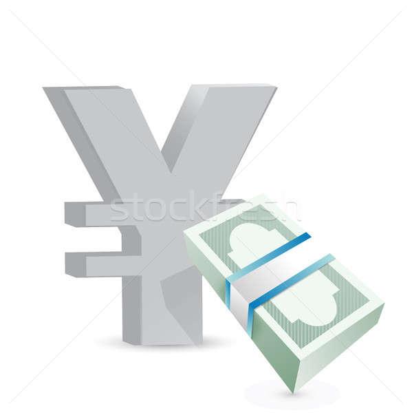 Yen para değiştirme örnek dizayn Stok fotoğraf © alexmillos