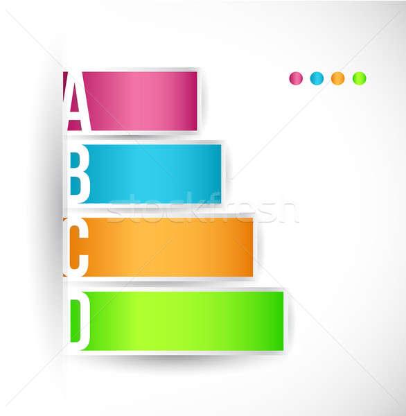 Lépcső különböző lehetőségek színes illusztráció terv Stock fotó © alexmillos