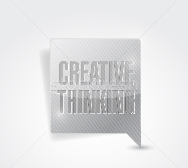 creative thinking message illustration design Stock photo © alexmillos