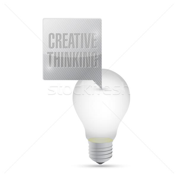 電球 アイデア 創造的思考 メッセージ 実例 デザイン ストックフォト © alexmillos