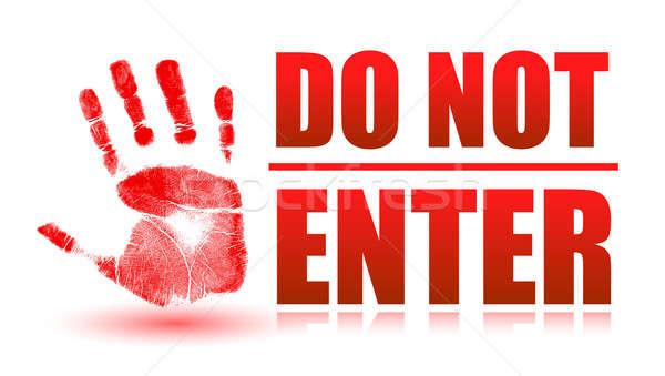 Do not enter sign  Stock photo © alexmillos