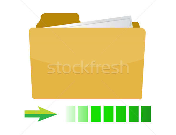 transferring folder icon concept illustration design on white Stock photo © alexmillos