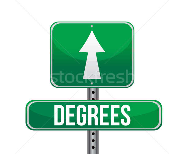 degrees sign illustration design over a white background Stock photo © alexmillos