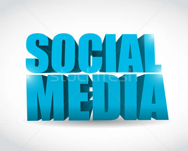 social media text illustration design over a white background Stock photo © alexmillos